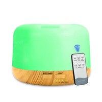 Difusor bonde do aroma do óleo essencial da aromaterapia do umidificador do aroma do ar do controle remoto 300ml ultrassônico com 7 luzes da cor