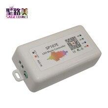 SP107E DC5V 24V بلوتوث الموسيقى LED تحكم كامل اللون RGB SPI التحكم عن طريق الهاتف APP ل 2812 2811 1903 LED قطاع ضوء الشريط