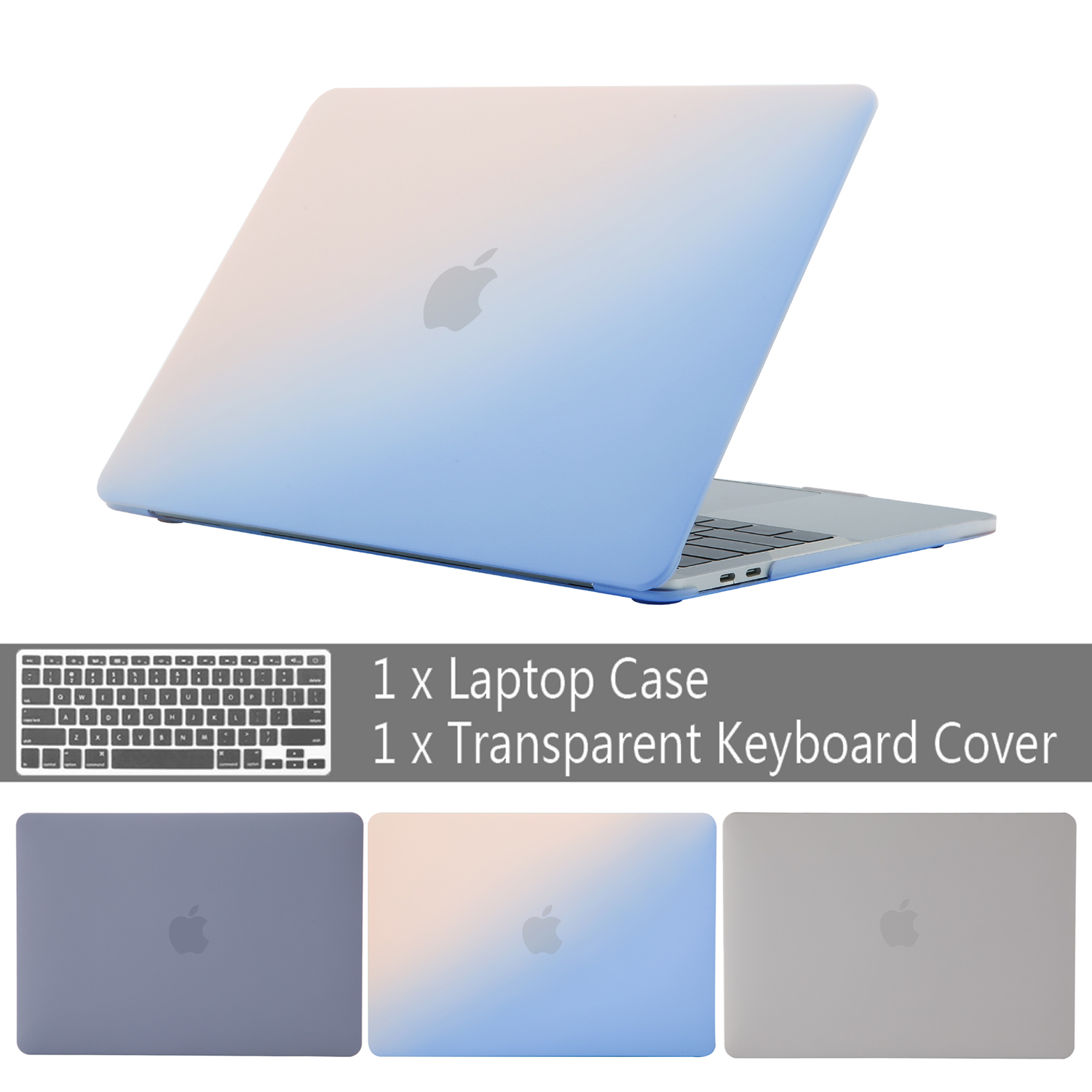 2019 Cream Color New Case For MacBook Air Pro Retina 11 12 13 15 For Mac Book 13.3 15.4 Inch With Touch Bar + Keyboard Cover