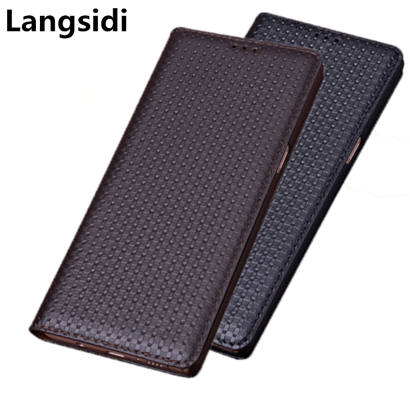 Luxury Genuine Leather Handmade Flip Case For Xiaomi Redmi 4X/Xiaomi Redmi 4 Pro Magnetic Phone Bag Standing Leather Back Case
