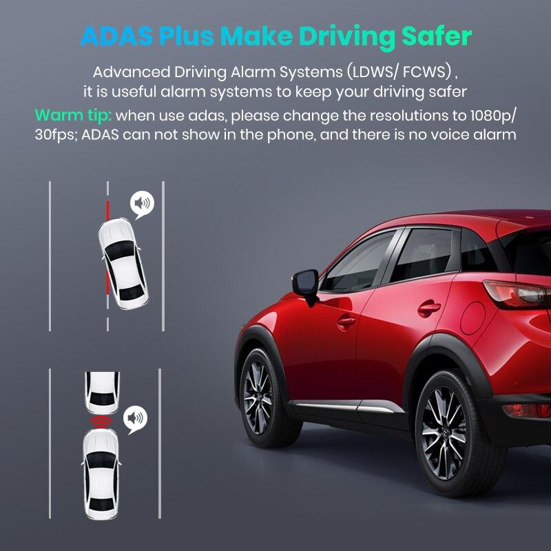 Image 3 - Junsun S590 WiFi 4K Car Dash Cam Ultra HD 2160P 60fps GPS ADAS DVR Camera Recorder Sony 323 Rear Camera 1080P Night Vision-in DVR/Dash Camera from Automobiles & Motorcycles