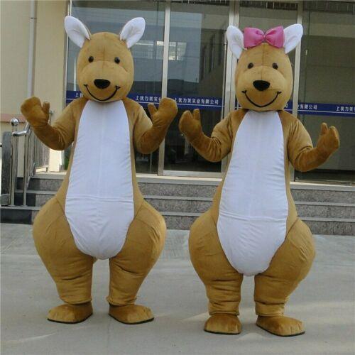 Kangourou mascotte Costume costumes Cosplay fête robe tenues vêtements publicité Promotion carnaval Halloween noël pâques adultes