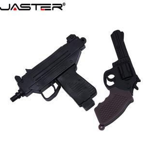 Image 4 - JASTER USB 2.0 serin makineli tabanca silah modeli Flash sürücü tabanca AK47 4 64GB kalem sürücü hediye