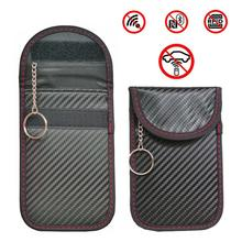 Anti-Theft Keyless Entry Car Key Cover RFID Signal Radiation Blocking Farady Bag Wallet Bags Unisex Wallets Pouch Purse