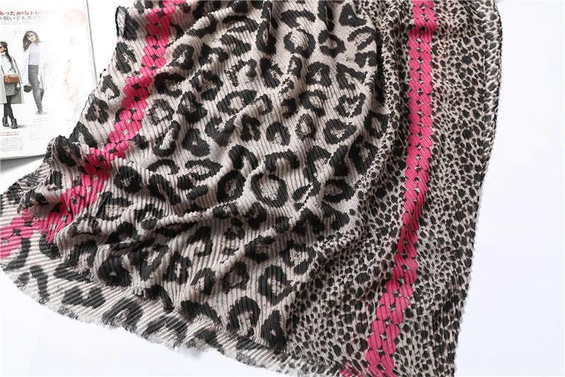 2019 Nuovo Arrivo Sciarpa Del Leopardo Delle Donne di Cotone Nero Morbido Inverno Caldo Pashmina Scialli A Pieghe di Sesso Femminile Dell'annata Della Rappezzatura Foulard