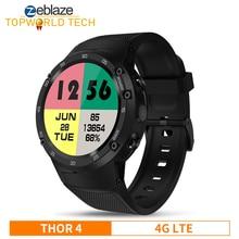 Amiral gemisi Zeblaze THOR 4 4G LTE GPS SmartWatch Android 7.0 MTK6737 dört çekirdekli 1GB + 16GB 5.0MP 580mAh veri çağrı akıllı saat erkekler