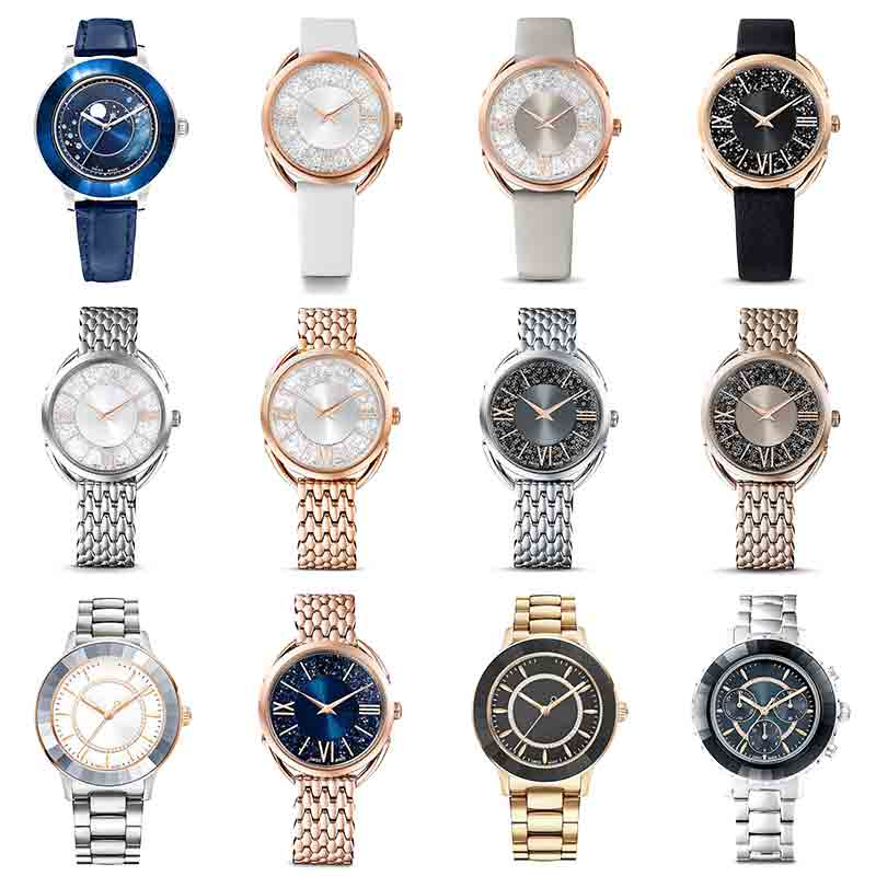 High Quality Original Austrian Brand Watch Luxury Crystal Stainless Steel Watch Men And Women Couple Watches Free Shipping
