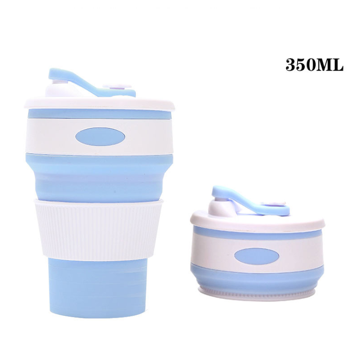 Free Logo Free DHLCustomized Creative Gift Silica  Folding Coffee Cup Collapsible Silica  Water Cup Rubber Expansion Cup