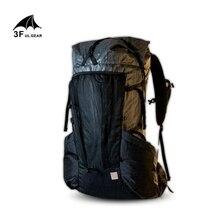 3F UL dişli YUE hafif dayanıklı sırt çantası çerçeve ile 45 + 10L açık yürüyüş kamp seyahat Trekking sırt çantası erkek kadın