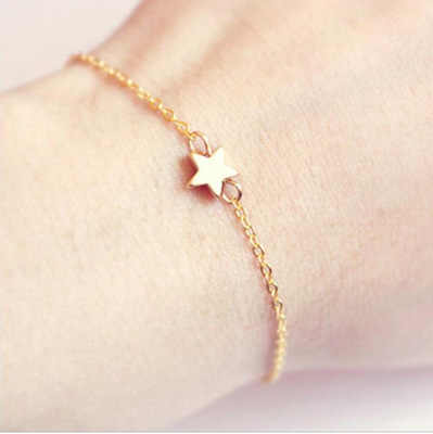 European And American Jewelry Foreign Trade Single Pentagon Bracelet Simple Lady Bracelet Star Jewelry