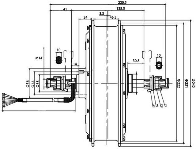 MXUS E Bike Kit Rear Wheel motor 48/60/72V/90V 3000W Electric Bike Conversion Kit High Speed Brushless Hub Motor XF40 26/29 inch