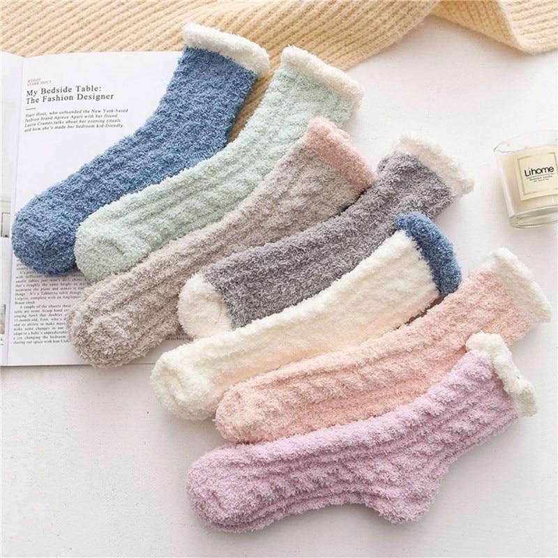 Soft Fluffy Bed Socks
