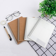 2020 Everyday Plan Coil Book Weekly Monthly Schedule Management agenda notebook Simple Style Stationery 48sheets/96pages