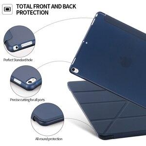 Image 5 - Чехол для ipad 9,7 2018, кожаный силиконовый мягкий чехол накладка для ipad 6 го поколения, умный чехол для ipad 9,7 2017, чехол
