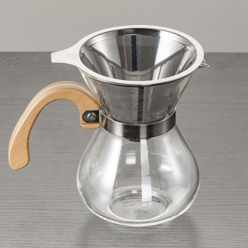 Stainless Steel Reusable Drip Coffee Filters Dripper Pour Over Coffee Filter Funnel Metal Mesh Basket Coffeeware Barista Tools