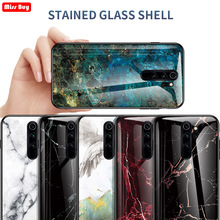 For Xiaomi Redmi Note 8 Pro Case Note8 8Pro Fundas Marble Tempered Glass Phone Cases 7 Coque