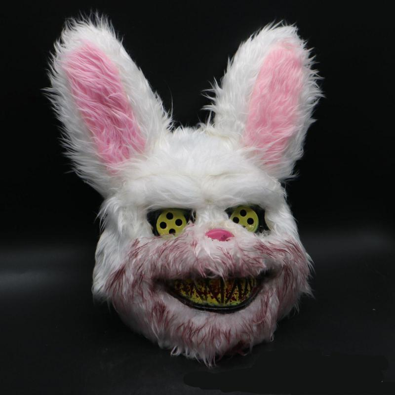 2019 New Halloween Mask Bloody Killer Rabbit Mask Halloween Plush Cosplay Horror Mask For Kids Adults 7479 in Gags Practical Jokes from Toys Hobbies