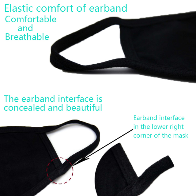 Cotton Mouth Mask Anti Haze Dust Washable Reusable Double Layer Dustproof Mouth-muffle Winter Warm Mask 2
