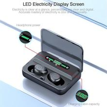 Wireless Earphones Mini Stereo Headphone In-ear Earbuds True Hifi Sport Headset With LED Digital Display Touch Control