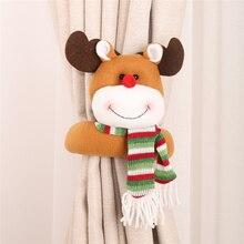 Xmas New Year Santa Claus snowman elk curtain decoration DIY Christmas supplies Small creative buckle Cartoon