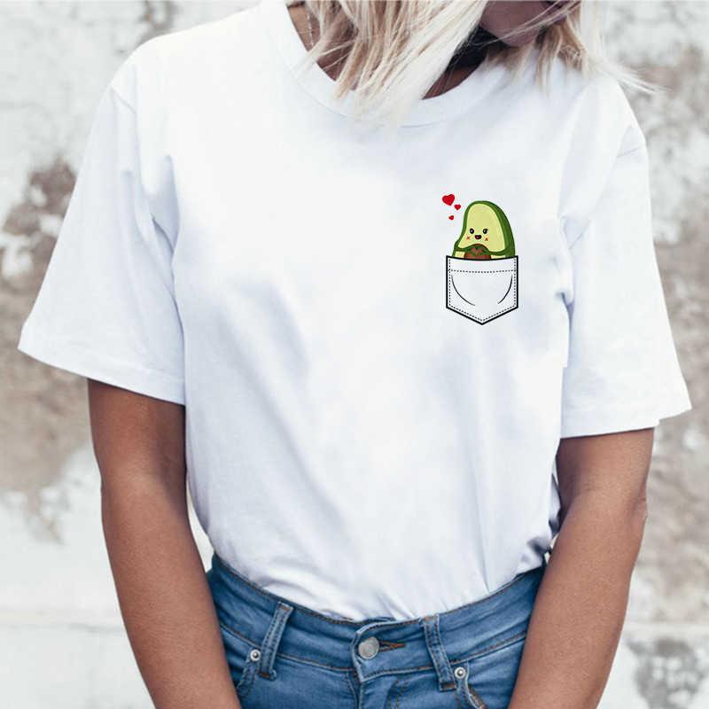 Avocado t shirt t shirt kleidung männlichen neue femme mode harajuku 90s top grunge ulzzang grafik t-shirt kawaii frauen t-shirt