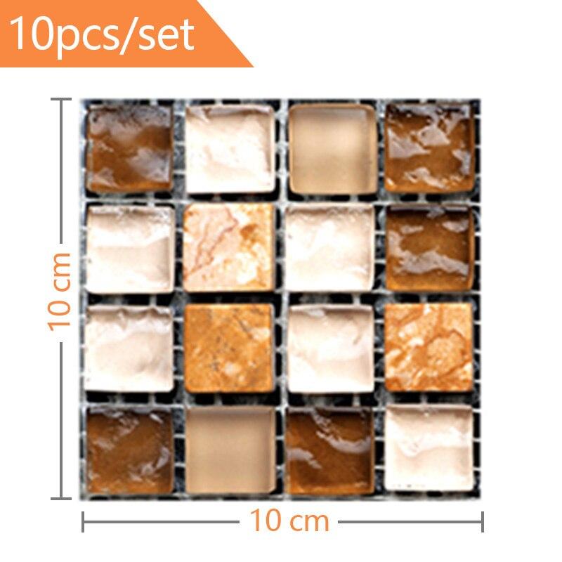 Аксессуары для украшения дома 10 шт 3d наклейки на стену самоклеящаяся