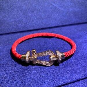 Роскошный брендовый модный двойной циркониевый браслет в форме подковы для женщин оригинальный браслет fred ювелирные изделия с логотипом