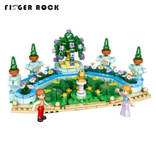 New Toys City Girls Series The Royal Xingbao 12022 Garden Set Model Building Blocks Bricks Funny Girl Kids Educational Gift lepin 02102 city series the mining experts site set with dump truck 60188 building blocks bricks funny toys model kids gifts