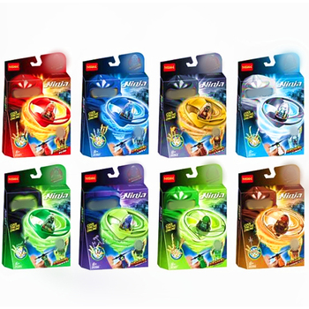 DECOOL NINJA Airjitzu Flyer Ninjagoes Mini Figures Kids Gift Model Building Block Top Toy Dropshipping 1