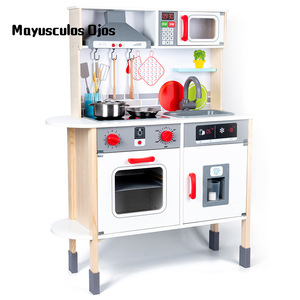 Children's Simulation Play House Set Girl Variety Kitchen Wooden Child Boy Early Education Educational Toys