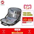 Tigernu Мода портфель 13,1 14 деловые мужские Портфели Сумка для мужчин водоотталкивающая сумка через плечо слинг рабочая сумка