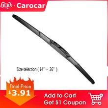 "CAROCAR Car Wiper Blade Universal U Hook Type 14""16""17""18""19""20""21""22""24""26"" Windscreen Windshield Rubber Hybrid Auto Wipers"