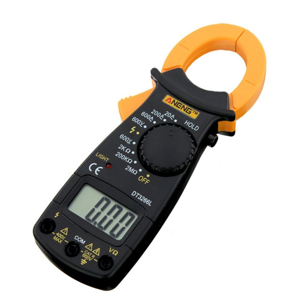 ANENG DT3266L Digital Clamp ammeter <font><b>AC</b></font> <font><b>DC</b></font> Ammeter Multimeter Voltmeter 400A Electronic Clamp meter Diode Fire Wire Tester image