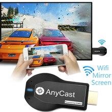 Anycast M2 زائد HDMI جهاز استقبال للتليفزيون دعم Miracast البث DLNA 2.4G اللاسلكية جهاز دونجل للعرض مزود بخاصية WiFi استقبال ل IOS الروبوت