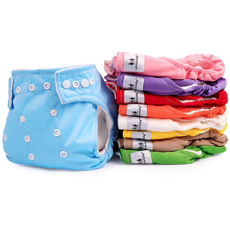 Adjustable Baby Waterproof Diaper Baby Underwear Breathable Newborn Bread Pants Diaper Washable Cloth Diapers Reusable Nappies