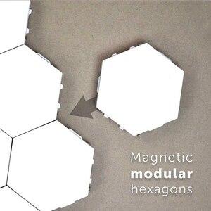 Image 5 - HoneyFly applique murale avec capteur IR tactile, nid dabeille quantique 110, 240 mur LED V, décoration bricolage même