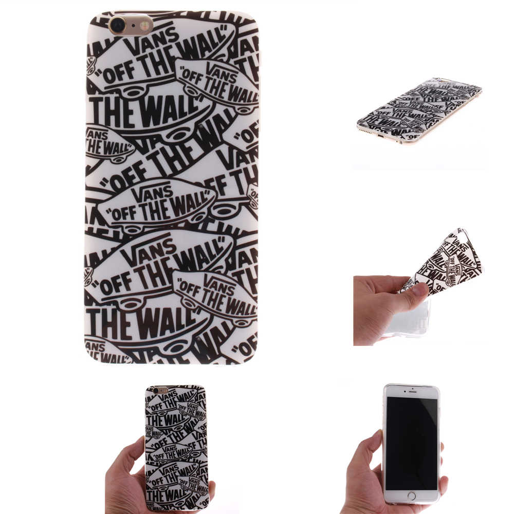 Van's Off The Wall For iphone 7 5 5s SE 6 6s 6s Plus 6Plus 7 Plus 8 8Plus X XS Case Soft Silicon TPU Back Cover Phone Funda Coqu