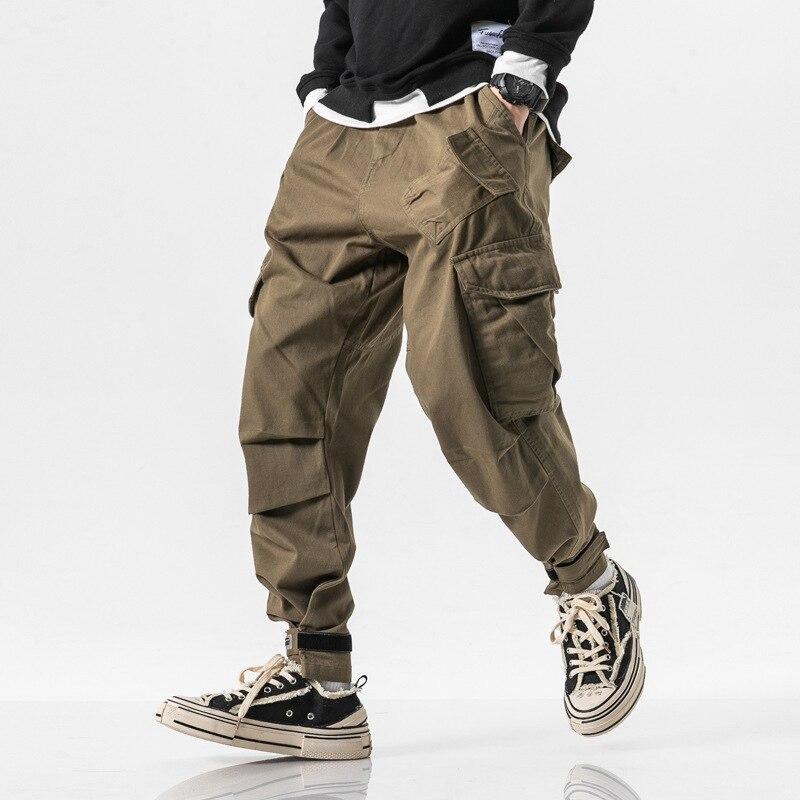 2019 New Style Japanese-style Popular Brand Autumn Bib Overall Men's Velcro Beam Leg Harem Pants Sub-Men's Straight-Cut Casual P