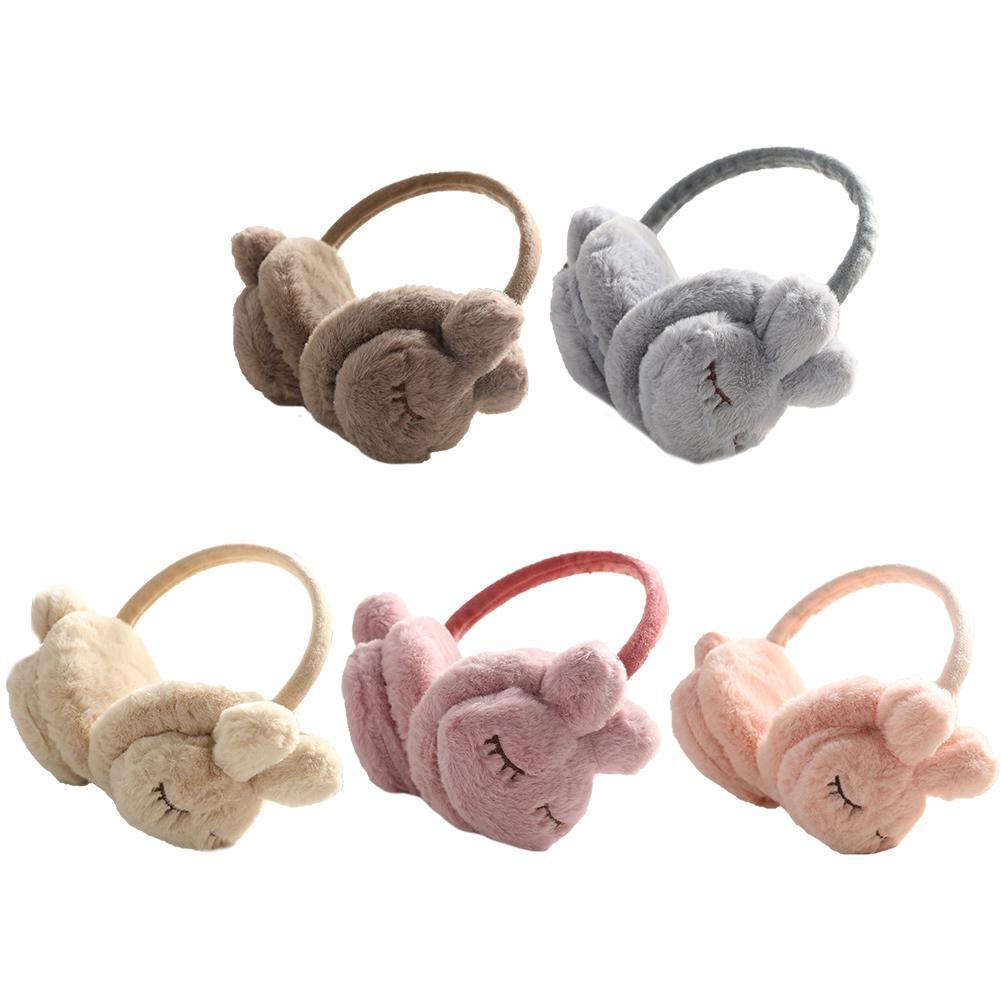 New Cute Winter Warm Earmuff For Girls And Boys Plush Warm Rabbit Earcap Children Lovely Winter Earmuffs Ear Cover Earwarmers