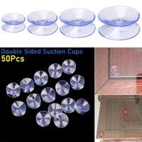 Ventosas antideslizantes de plástico transparente, ventosas de doble cara, soporte de mesa de cristal, 50 Uds.
