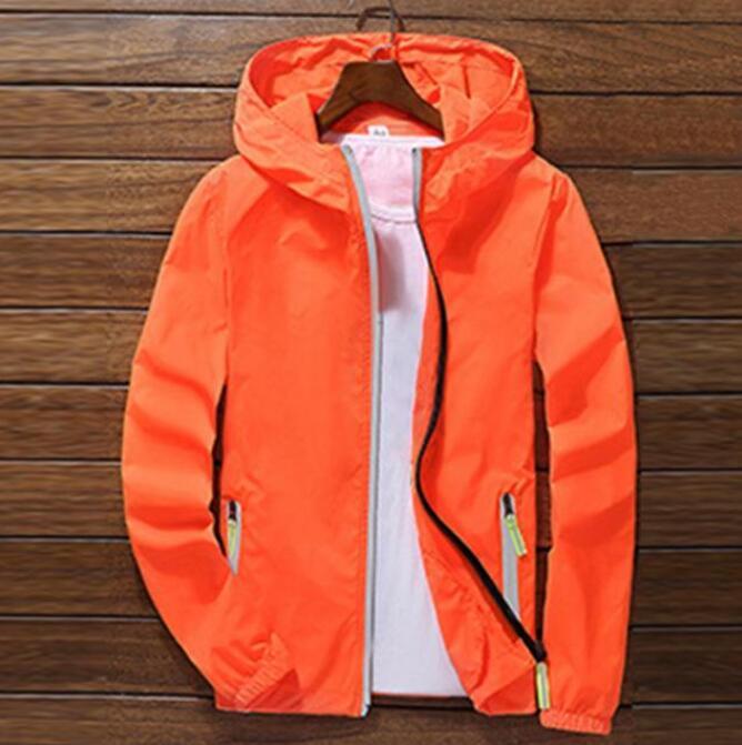 Hot 2020 Man Sport Outdoor Thin Coat Jackets Casual Loose Men's Windbreakers Jacket Male's Waterproof Outwear