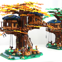 IDEAS Series Tree House Plant Leaf Elements Landscape Base Building Block 3117pcs Bricks Toys Gift IDEAS 21318