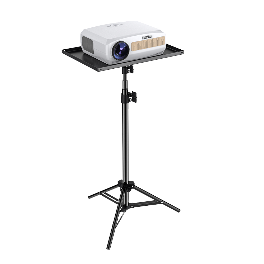 BlitzWolf Projector Tripod Stand with Large Tray Stable Indoor Outdoor  Portable Extensive Height Adjustable Projector Bracket