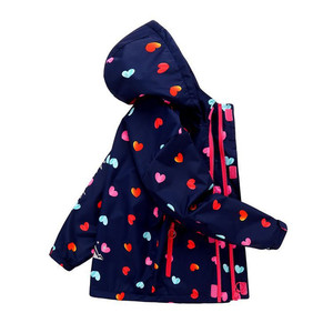Новинка, детская одежда на весну, осень и зиму, ветрозащитная водонепроницаемая куртка для маленьких мальчиков и девочек, двухслойная флисо...