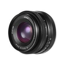 Lente da câmera 50mm f/2.0 USM Abertura Grande APS-C Mirrorless Foco Manual Padrão Prime Lens para Sony E montar Câmeras Fotografia