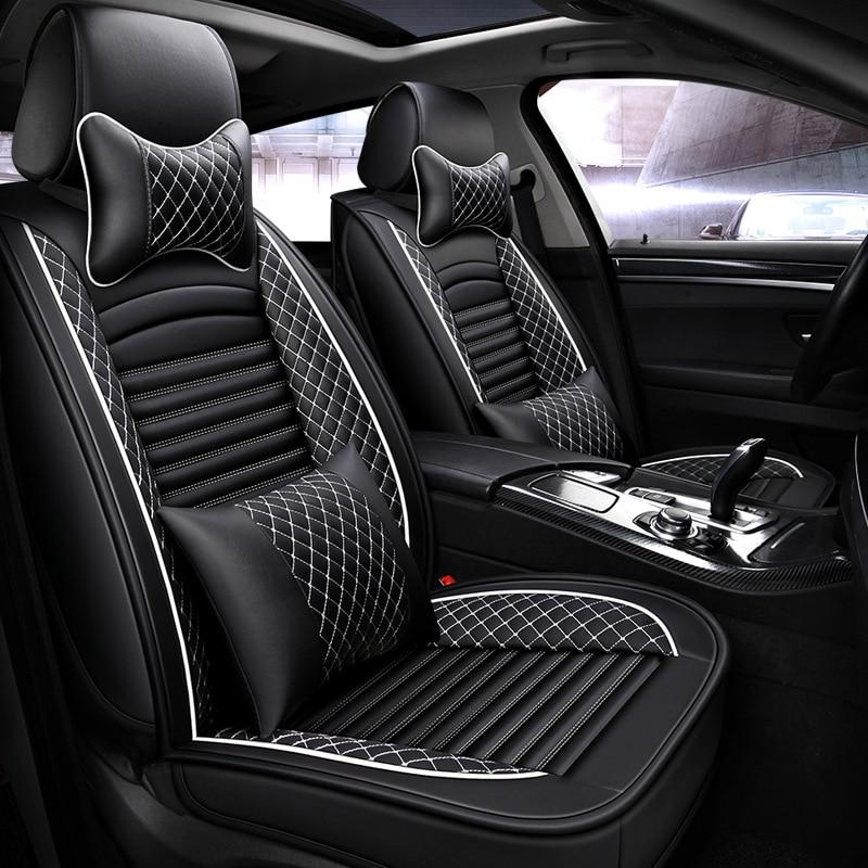 Car-Seat-Covers Universal Waterproof Hyundai Auto Toyota Lexus PU for 4-Color Kia Size