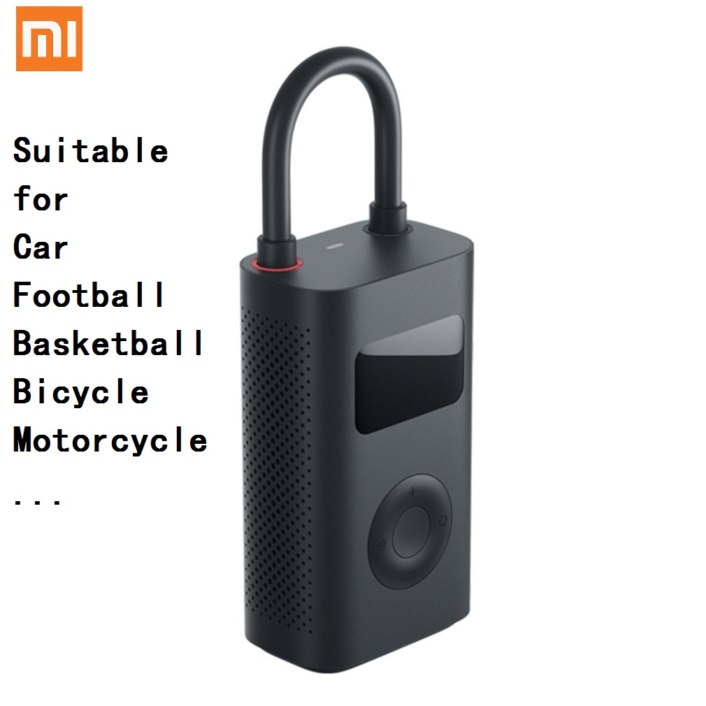 Newest Xiaomi Mijia Portable Smart Digital Tire Pressure Detection Electric Inflator Pump for Bike Motorcycle Car Football image