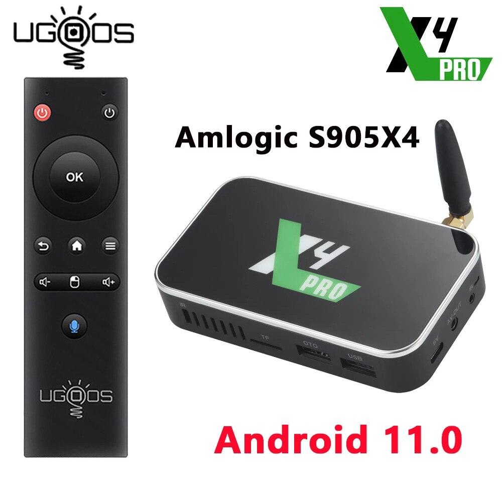 UGOOS X4 PRO 4GB 32GB X4 PLUS 64GB X4 CUBE Amlogic S905X4 Android 11 TV Box 1000M LAN Set Top Box 4K Media Player TV Receivers