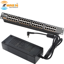 GPOE 24B Rack Mount load balancing gigabit PoE injector met 48V 120W Voeding voor IP camera Netwerk en CCTV set up PoE