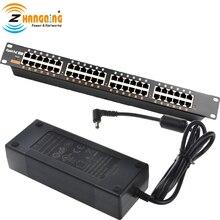 GPOE 24B do montażu W stojaku równoważenie obciążenia gigabit wtryskiwacz POE z 48V 120W zasilacz do kamera IP kamera sieciowa i CCTV zestaw do PoE
